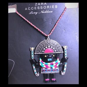 NEW Zara Beaded Colorful Figure Long Necklace